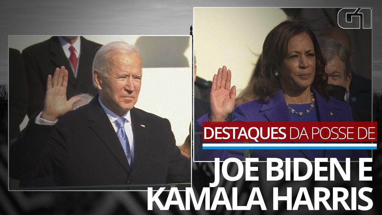 Veja os destaques da cerimônia de posse de Joe Biden e Kamala Harris