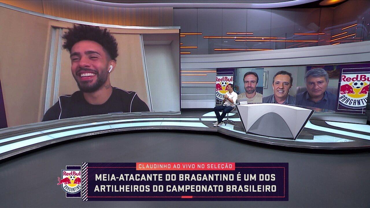 Artilheiro do Brasileiro, Claudinho fala sobre carreira e momento no Bragantino