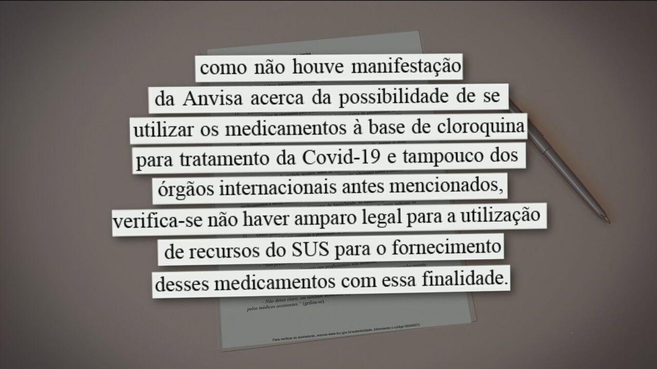 TCU vê ilegalidade em uso de dinheiro do SUS com cloroquina