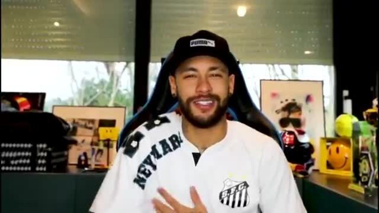 Neymar declara torcida para o Santos na final da Libertadores contra o Palmeiras