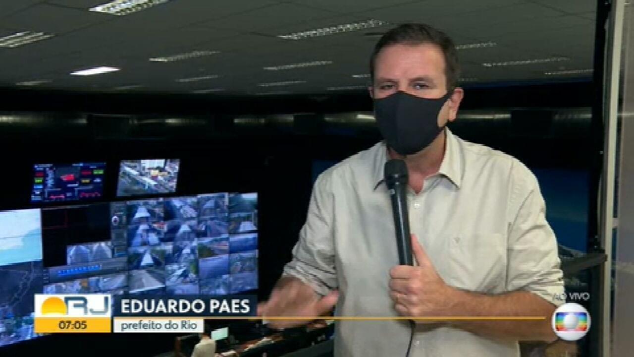 Prefeito Eduardo Paes faz apelo para que motoristas do BRT voltem ao trabalho