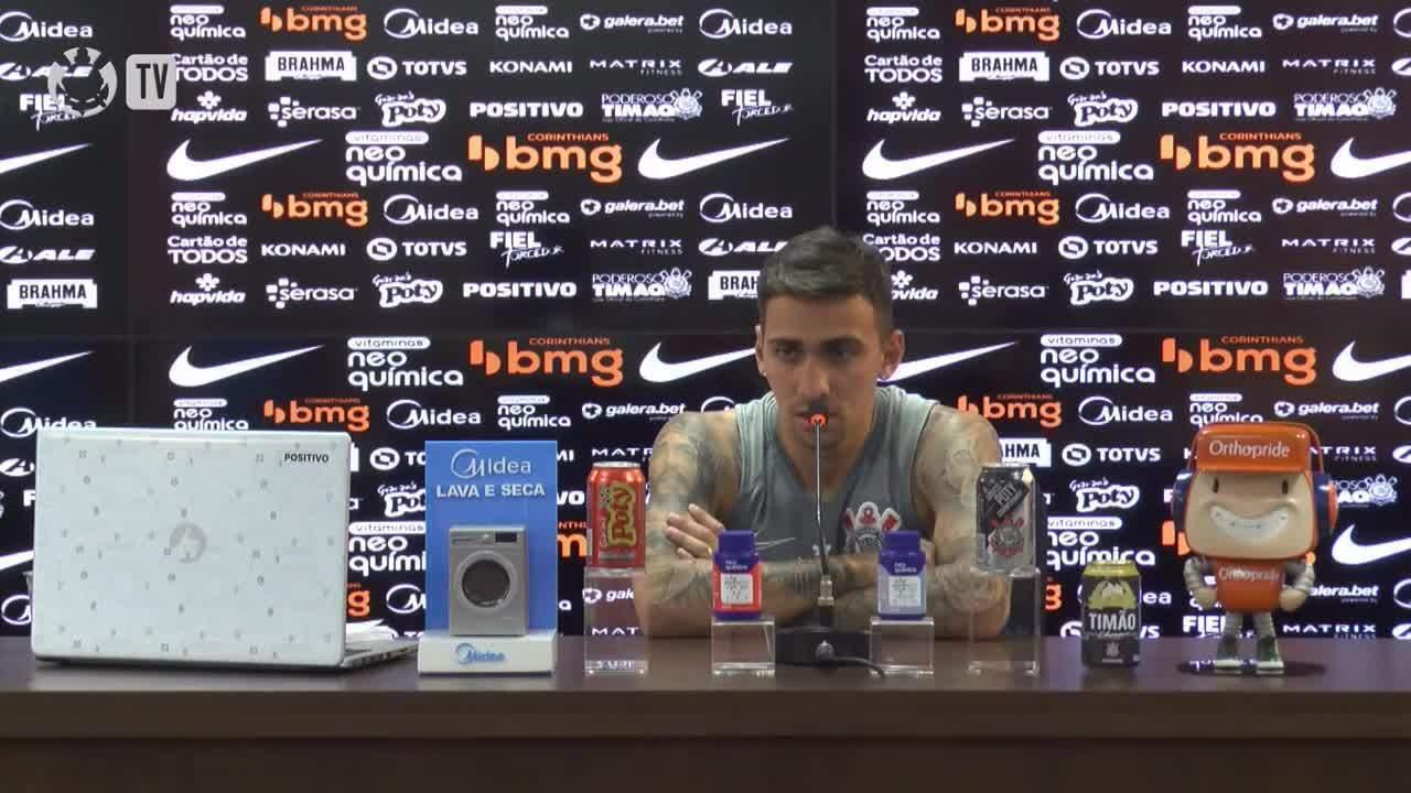 Veja entrevista coletiva de Gustavo Mosquito na véspera do duelo entre Corinthians e Ceará