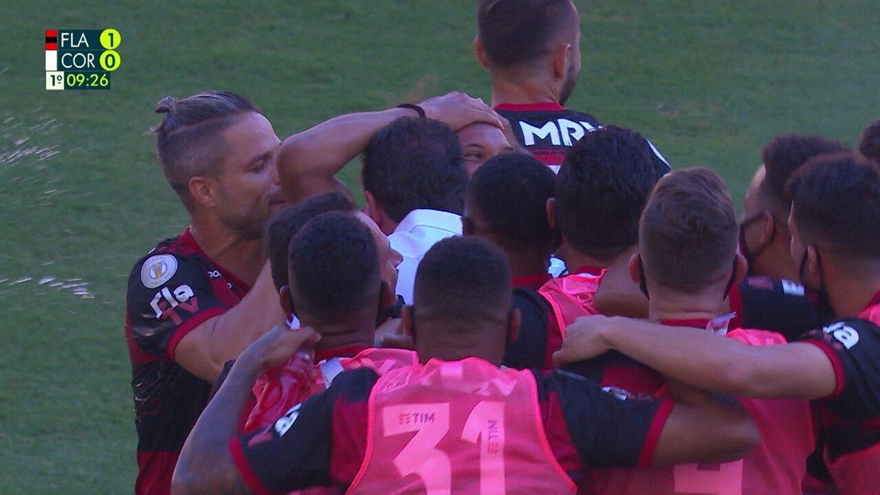 Os gols de Flamengo 2 x 1 Corinthians pela 36ª rodada do Brasileirão 2020