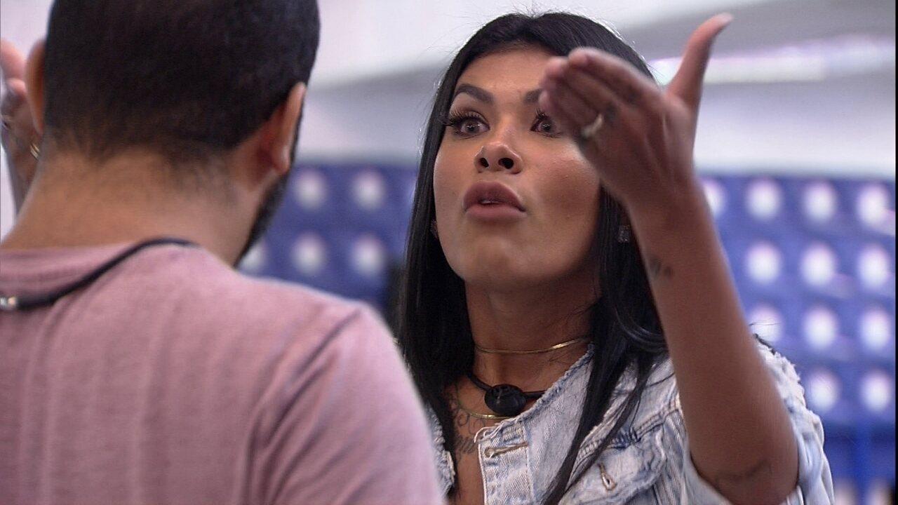 Pocah diz que Gilberto colocou seu caráter em jogo: 'Agora somos adversários'
