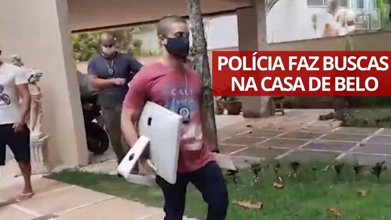 VÍDEO: Polícia Civil faz buscas na casa de Belo, na Barra da Tijuca