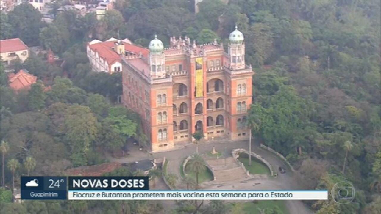 Fiocruz e Butanta vão mandar mais vacinas para Rio esta semana