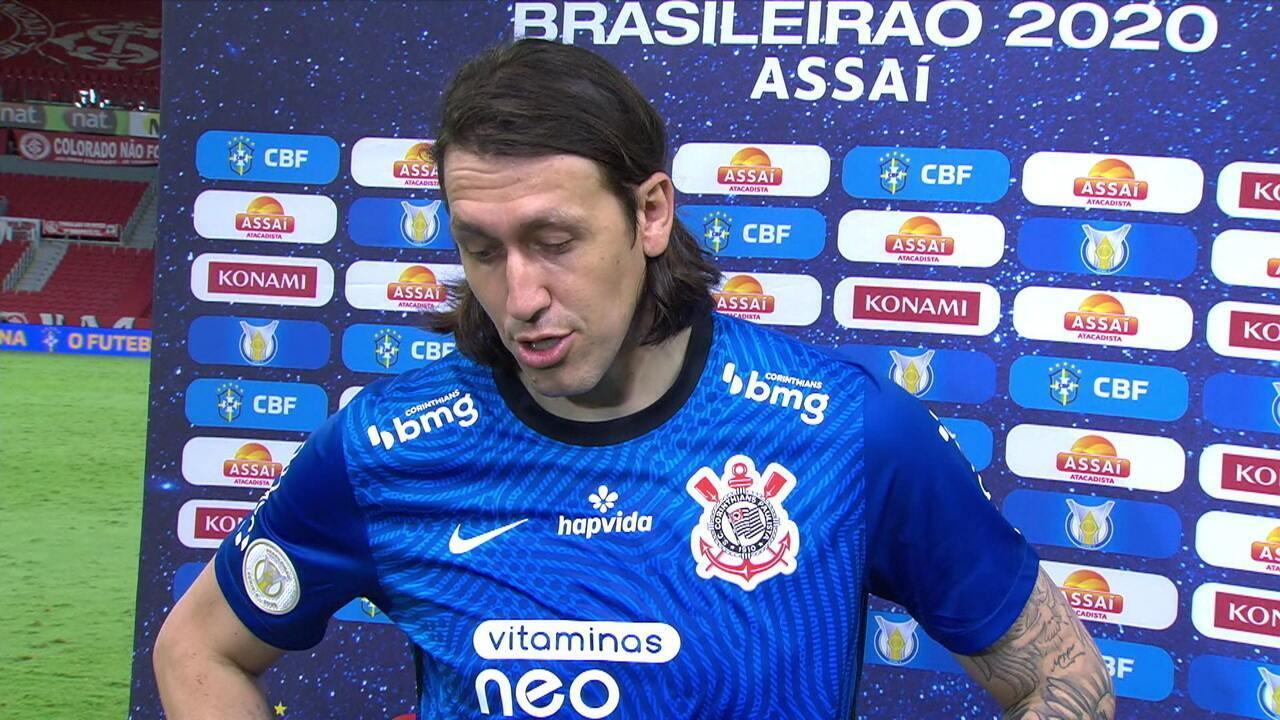 """Autor de grandes defesas, Cássio diz: """"Queríamos fazer o melhor pelo Corinthians"""""""