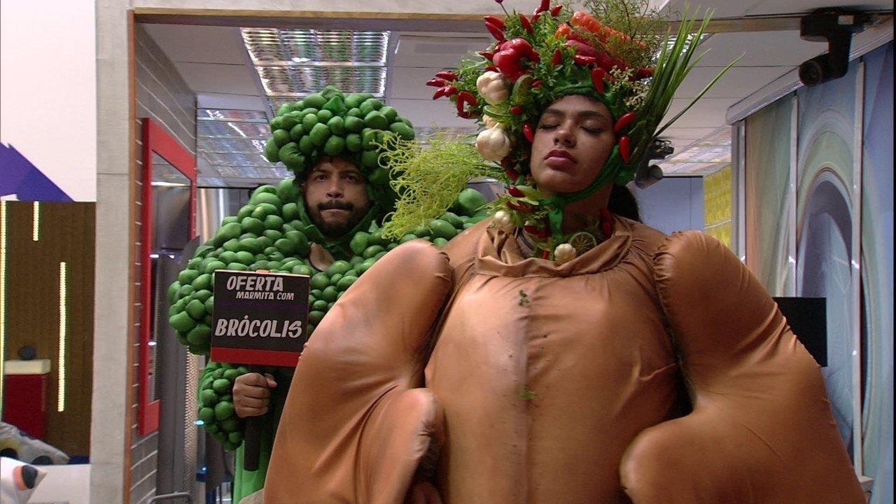 Enquanto brothers dormem, Pocah e Projota cumprem Castigo do Monstro no BBB21