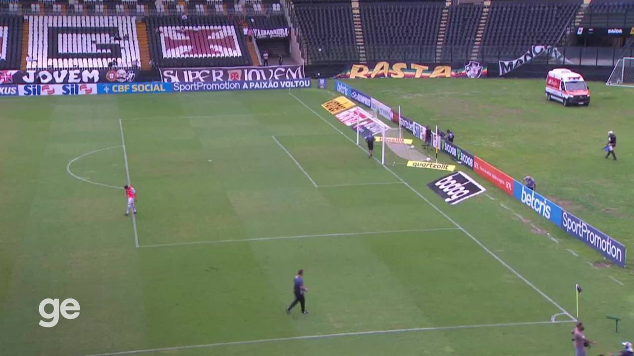 Vídeo do intervalo de Vasco x Inter revela tensão na cabine do VAR