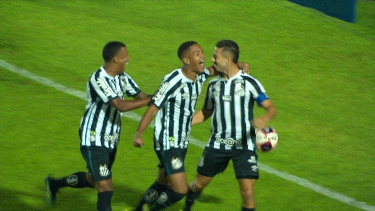 Os gols de Santo André 2 x 2 Santos pela 1ª rodada do Paulistão 2021