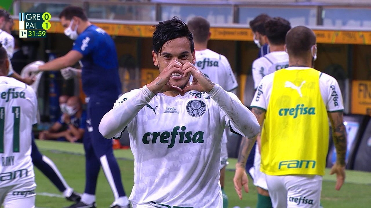 O gol de Grêmio 0 x 1 Palmeiras pela 1ª partida da final da Copa do Brasil 2020