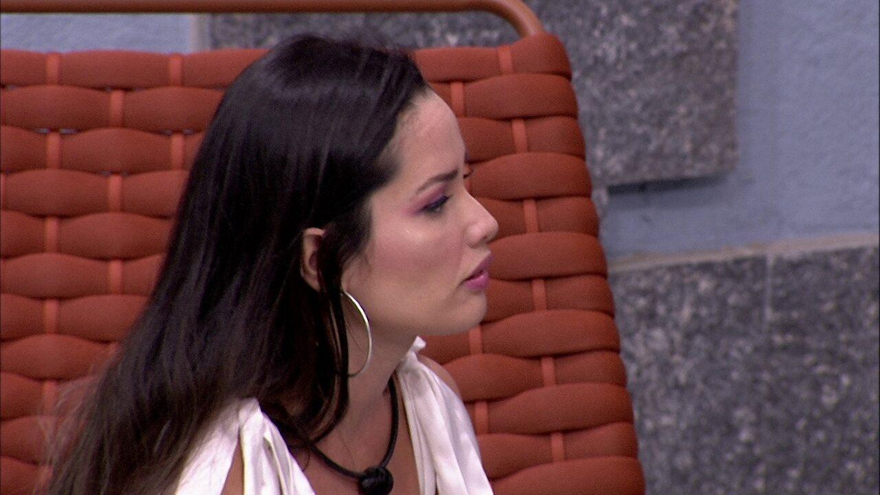 Juliette diz para Lumena no BBB21: 'Eu nunca quis lhe rotular'