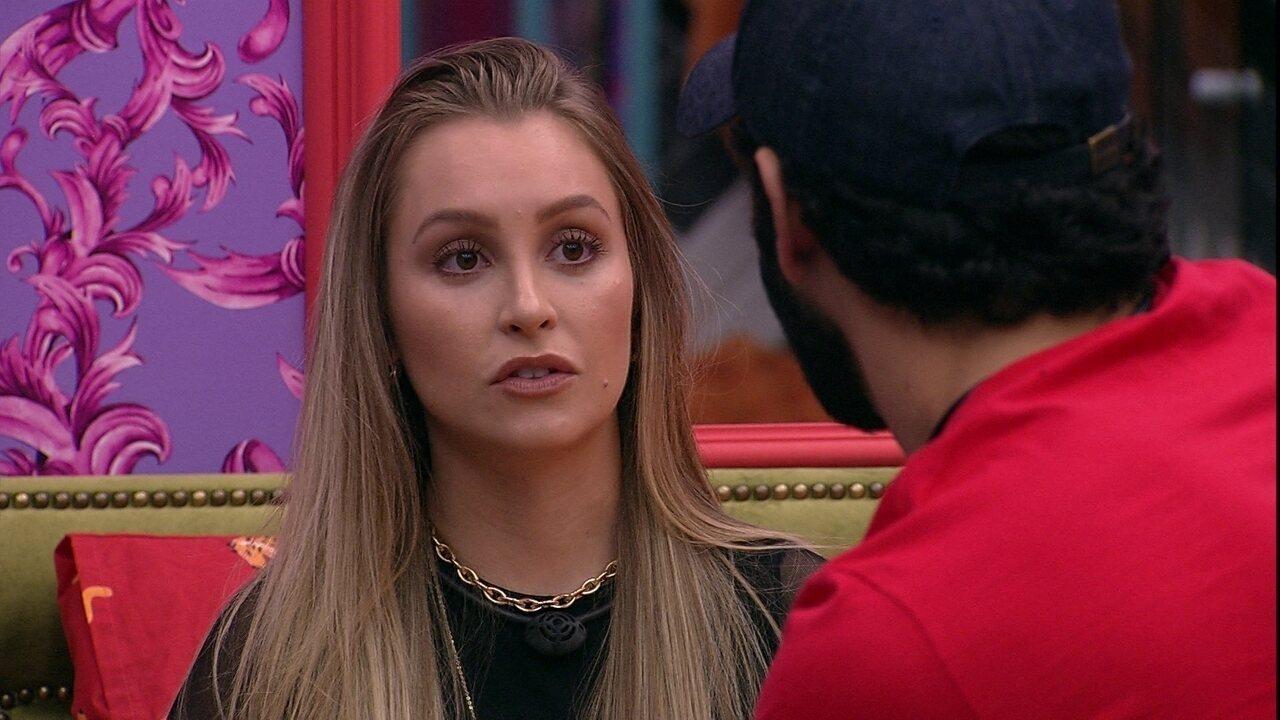 Carla Diaz fala a Rodolffo sobre jogo de Arthur no BBB21: 'Nunca tomou minhas dores'