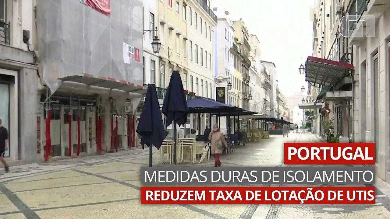 VÍDEO: Em Portugal, medidas duras de isolamento reduzem taxa de lotação de UTIs