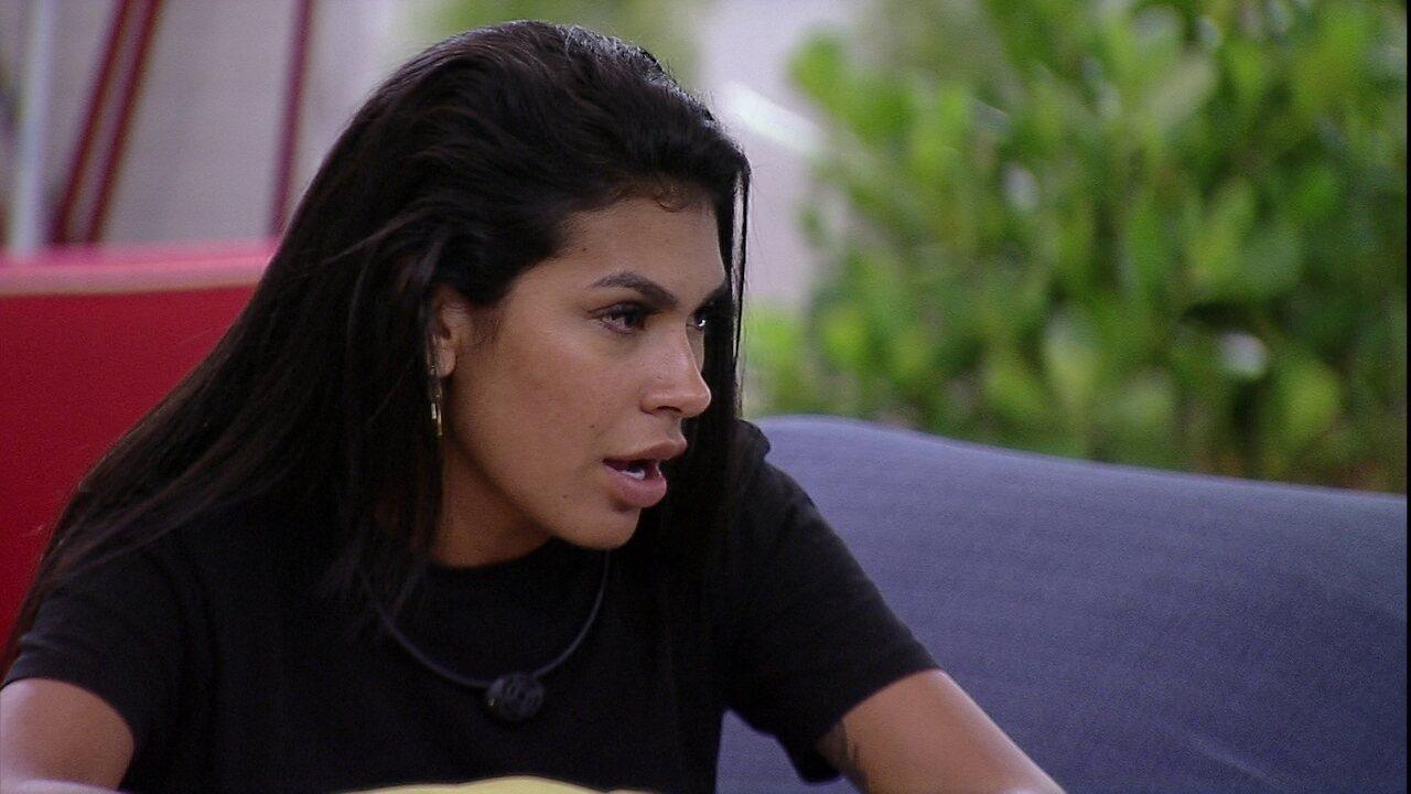 Pocah diz sobre Thaís no BBB21: 'Nem amiga a gente é'
