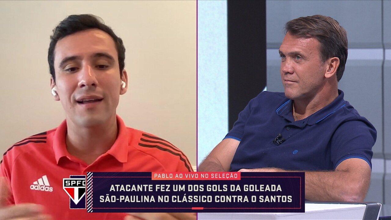 Atacante do São Paulo, Pablo participa do Seleção