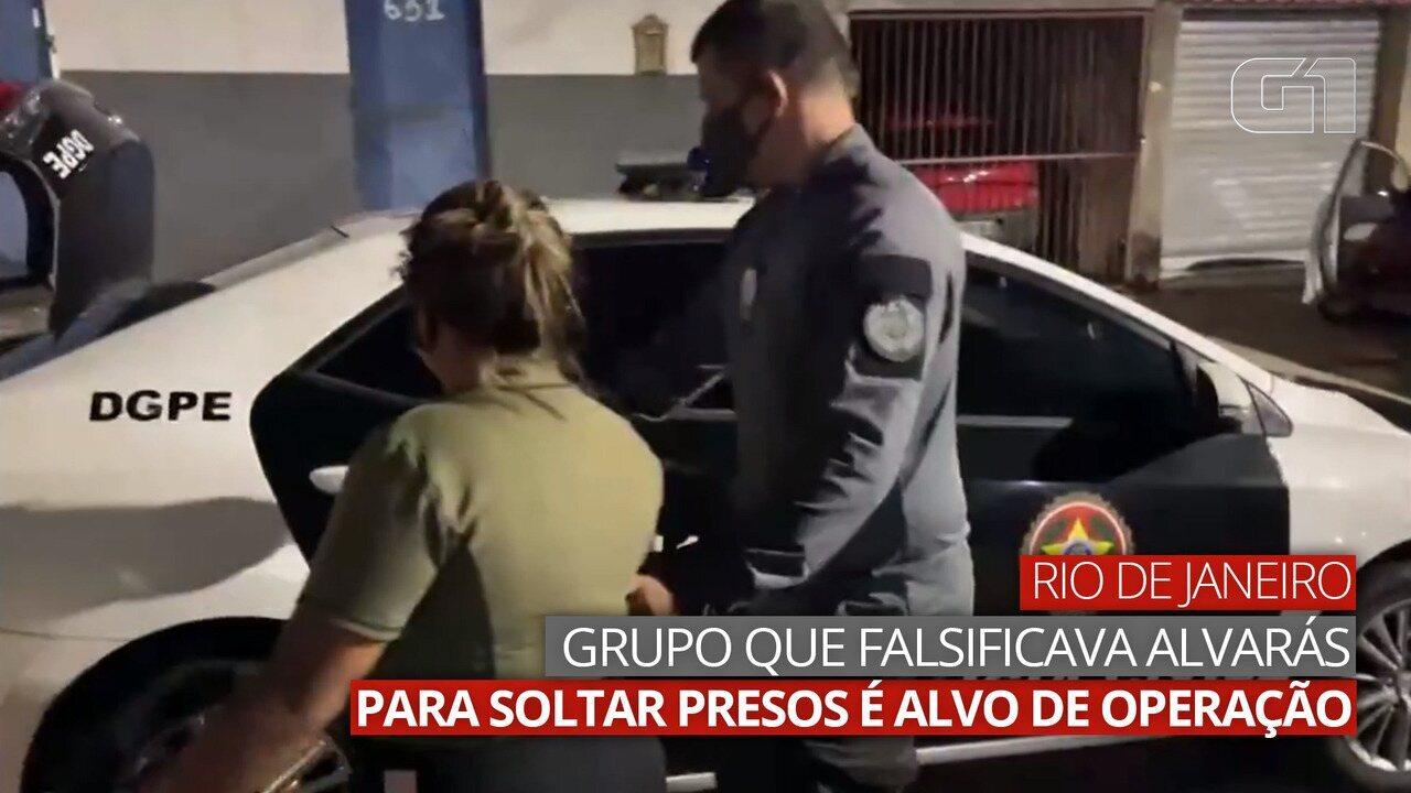 VÍDEO: Grupo que falsificava alvarás para soltar presos é alvo de operação no RJ