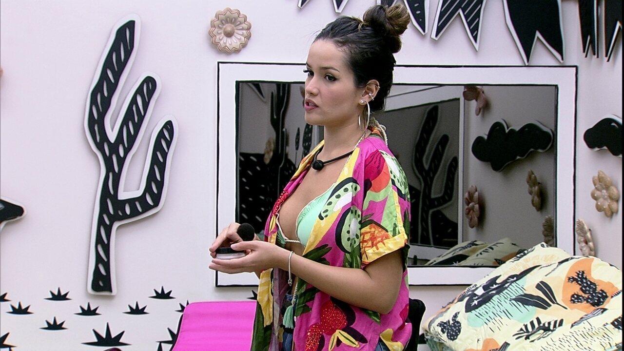 Juliette diz para Caio no BBB21: ´Pode se sentir a vontade de ser aberto comigo´