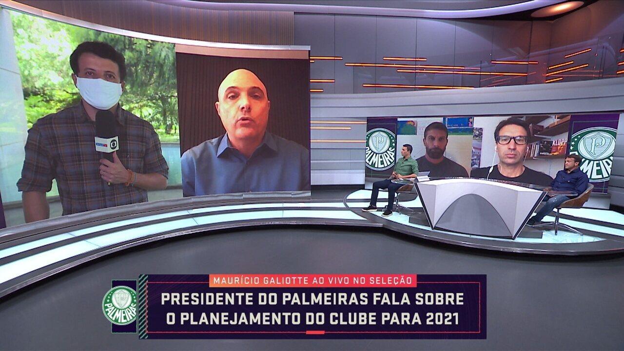 Maurício Galiotte fala sobre planejamento do Palmeiras e possível paralisação do Paulistão