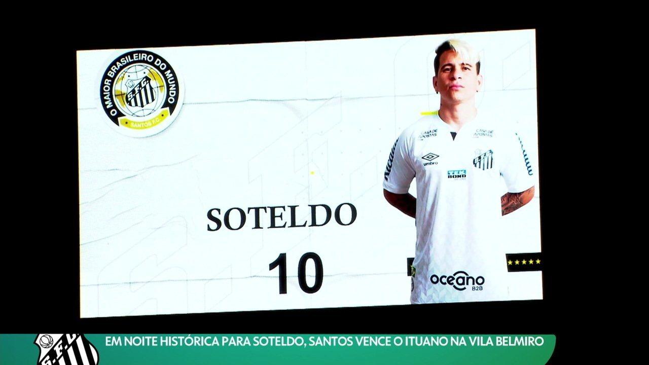 Relembre quando Soteldo completou 100 jogos pelo Santos