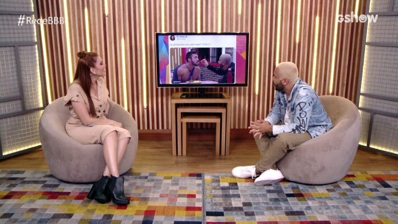 No Bate-Papo BBB, Projota prevê que Arthur será o próximo eliminado