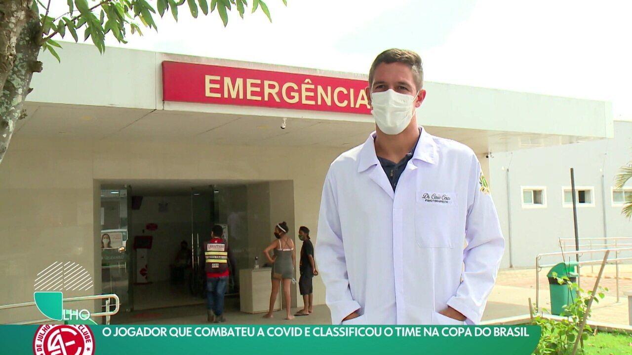 Herói dentro e fora de campo: Jogador combate a Covid e classifica o 4 de Julho para a Copa do Brasil