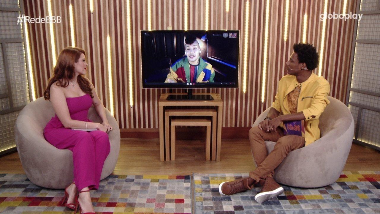 No Bate-Papo BBB, Gloria Groove declara quem seriam seus amigos no BBB21: 'Camilla e João'