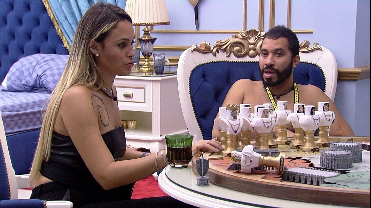 No Quarto do Líder, Sarah fala sobre Juliette: 'Ela está atuando em vários momentos'