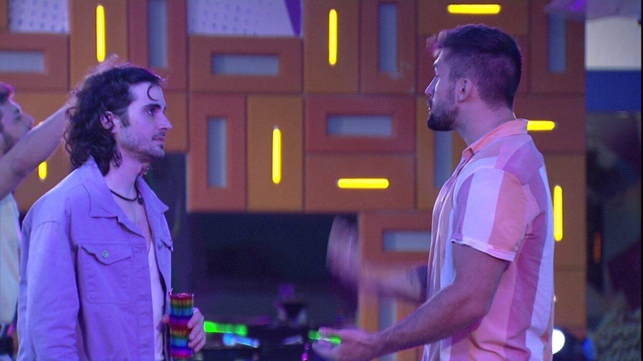 Arthur admite para Fiuk: 'Não tive coragem de vetar outra pessoa'