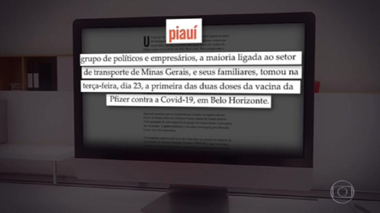 PF e MP investigam empresários de Minas suspeitos de tomar vacina de forma clandestina
