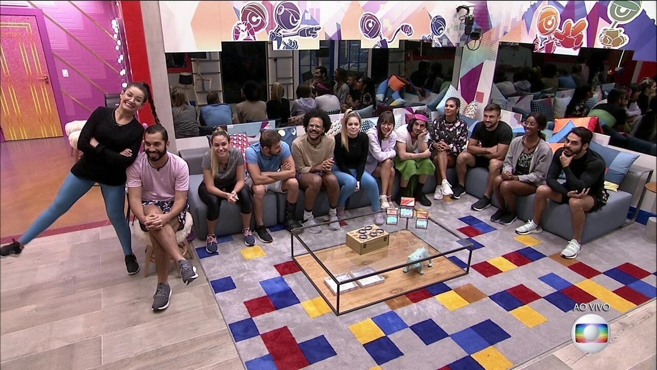 BBB21: Tiago Leifert fala com a casa e prepara brothers para a Prova do Líder