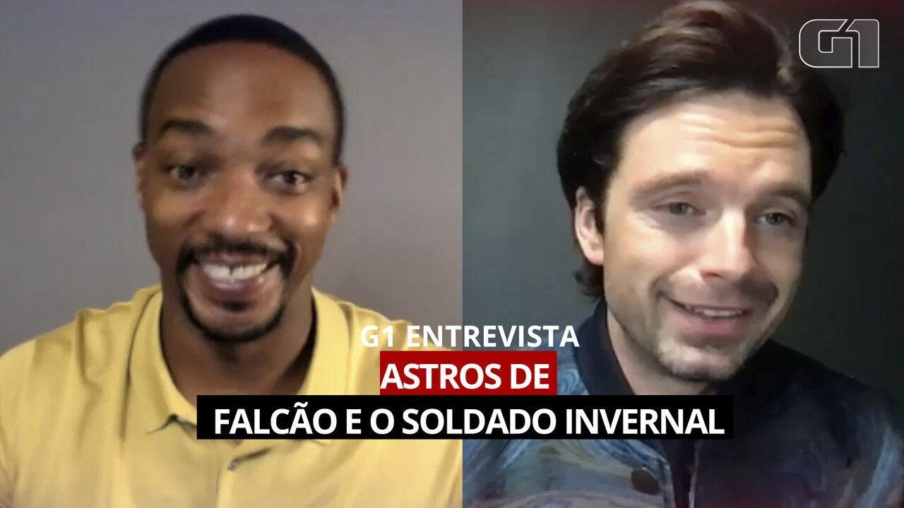Anthony Mackie e Sebastian Stan falam sobre 'Falcão e o Soldado Invernal'