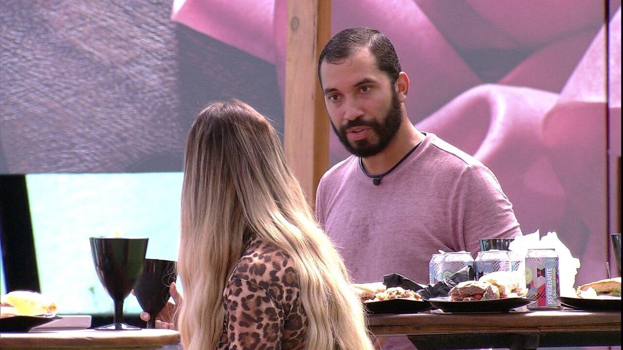 Gilberto opina sobre próxima Eliminação: 'Se essa mulher sai, eu não vou me perdoar nunca'