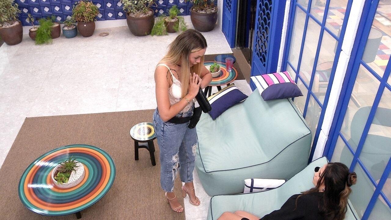 Sarah declara para Juliette sobre Paredão no BBB21: 'Espero que a gente volte'