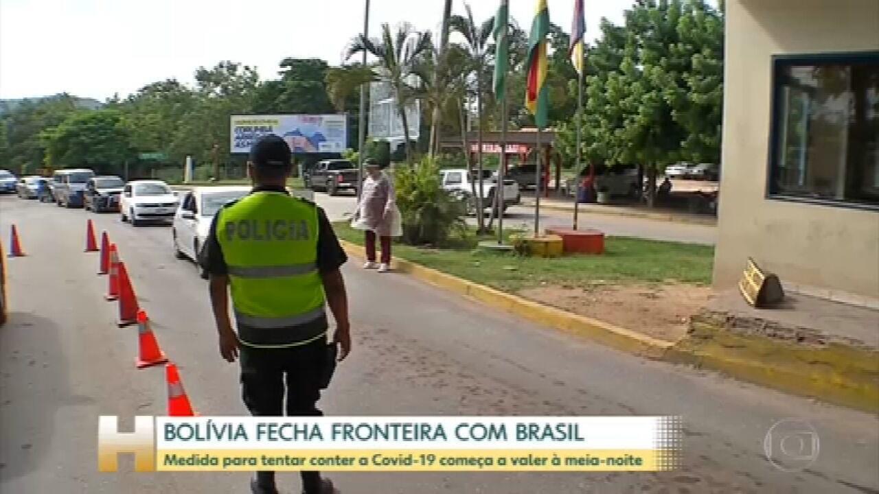 Bolívia vai fechar a fronteira com o Brasil para tentar conter casos de Covid