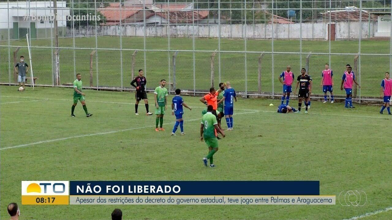Palmas joga contra o Araguacema em Paraíso, mesmo com decreto estadual que proíbe jogos