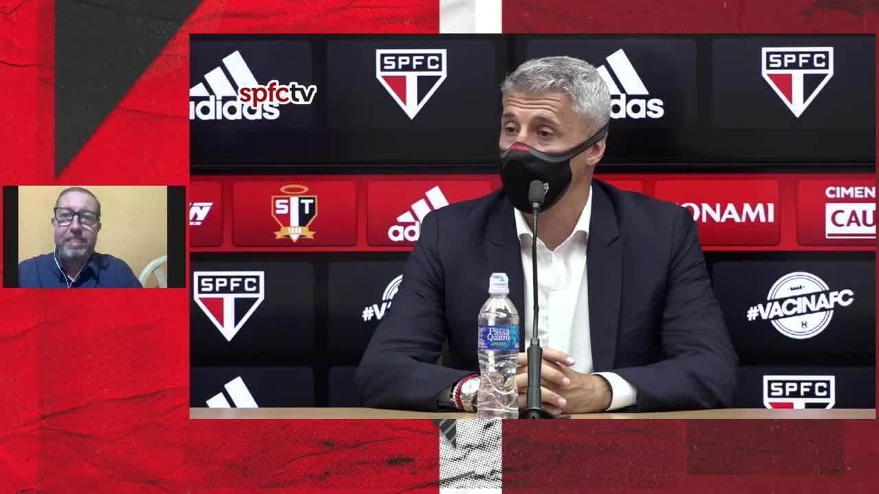 Confira coletiva de Hernán Crespo após vitória do São Paulo sobre o Bragantino