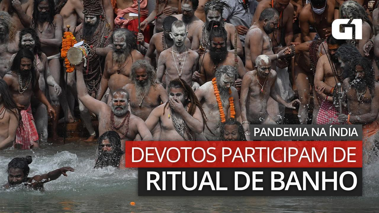 Video: Devotees participate in bathing rituals during the pandemic in India