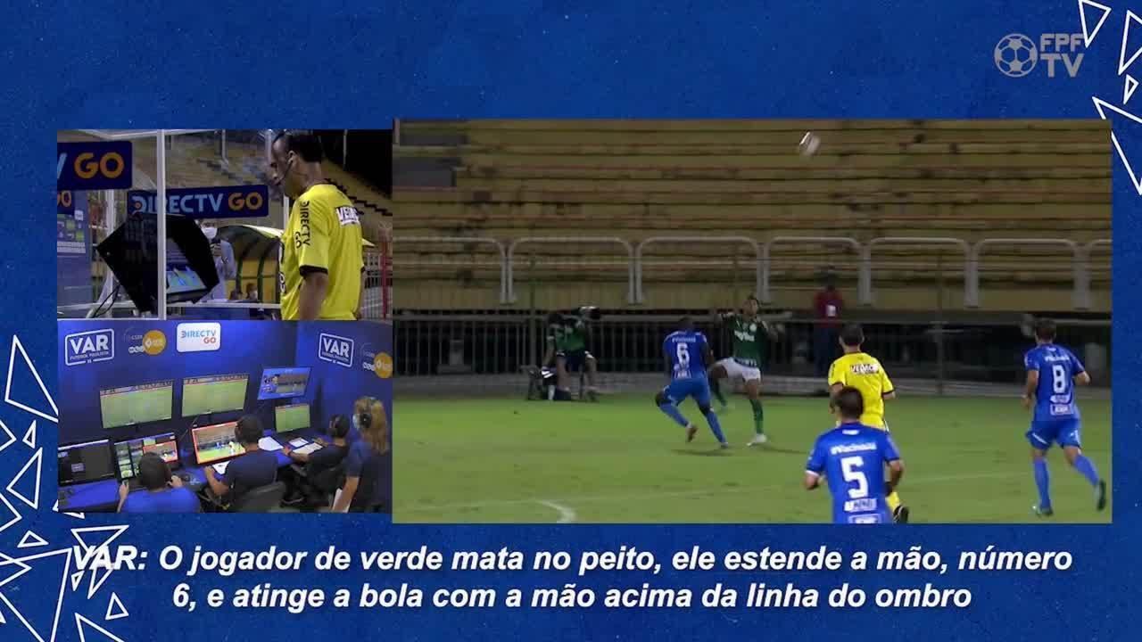 Ouça áudios e análise da FPF sobre pênalti bem marcado a favor do Palmeiras no Paulista