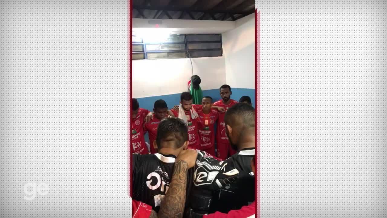 No vestiário, jogadores do 4 de Julho falam como derrotar o Cuiabá na Copa do Brasil