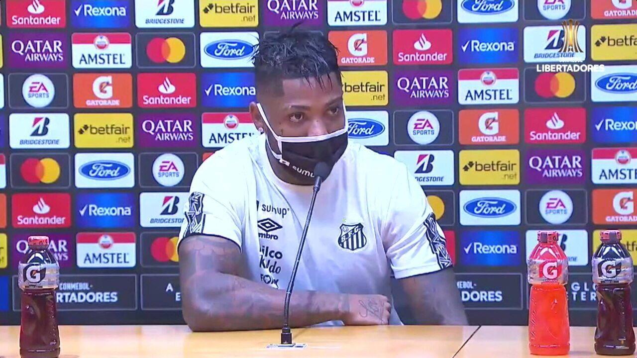 Confira a coletiva de Marinho, após derrota do Santos para o Barcelona-EQU