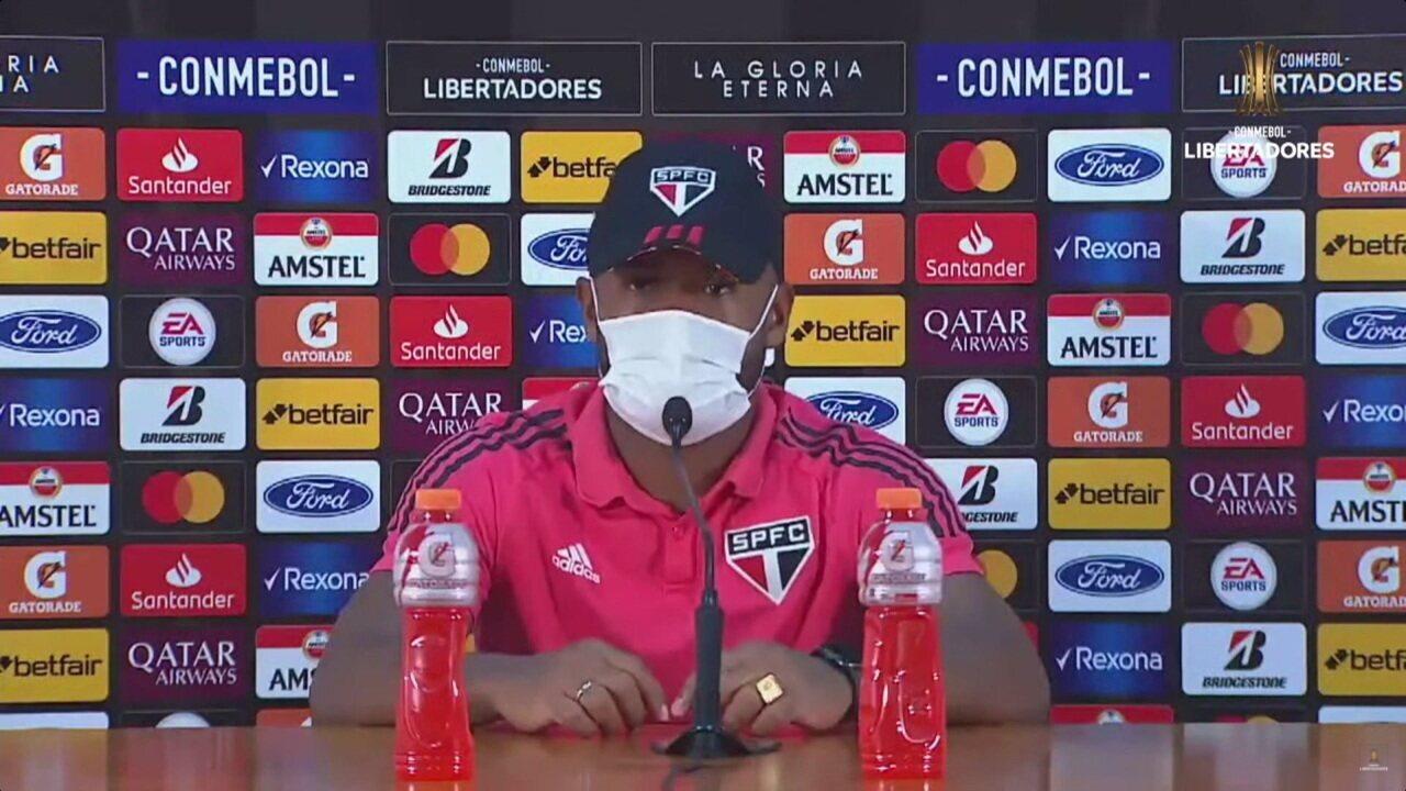 Veja a coletiva de Luan, do São Paulo, após a vitória sobre o Sporting Cristal, pela Libertadores