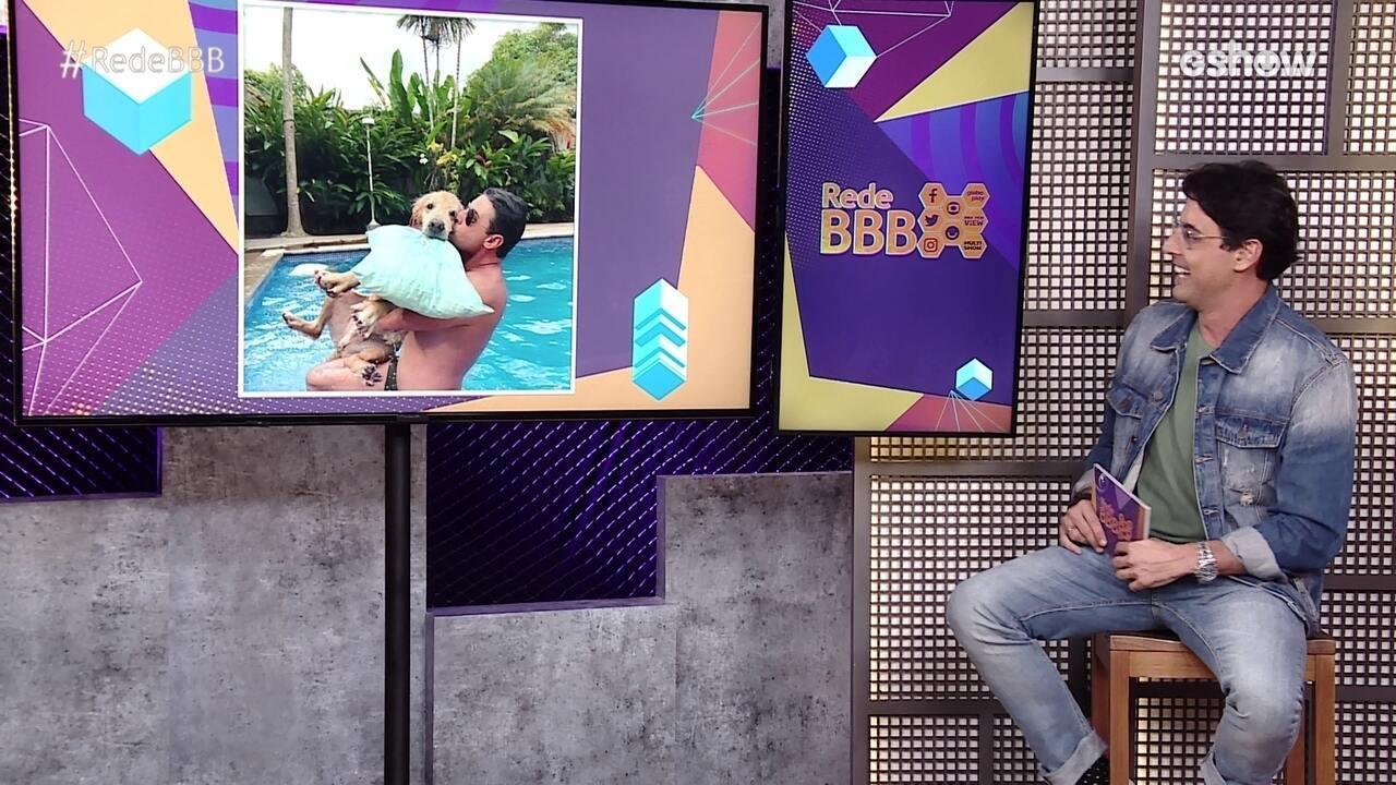 Na Mesa BBB, Bruno de Luca comenta carinho com o seu pet ao falar da Festa Organnact