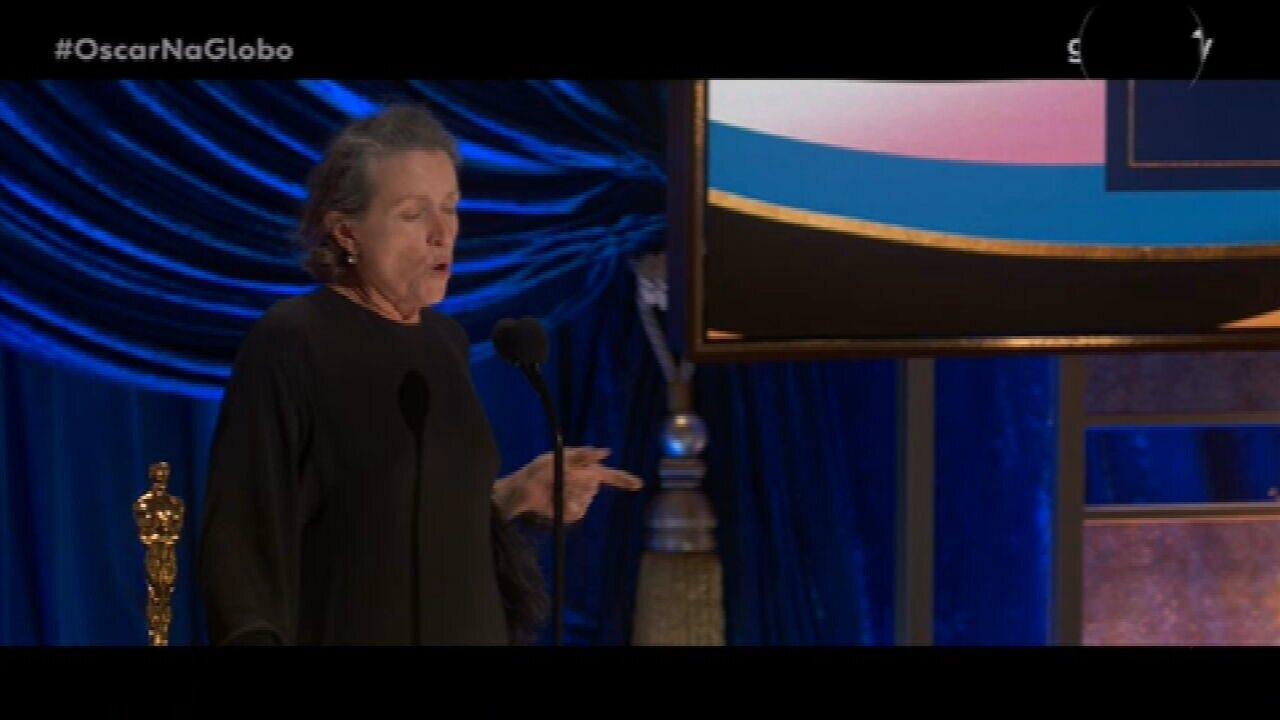 Oscar 2021: Frances McDormand vence o prêmio de Melhor Atriz