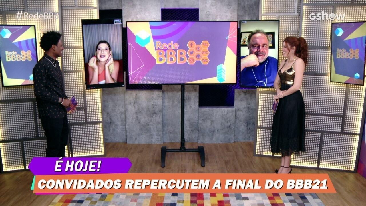Leo Jaime e Dani Calabresa falam de Fiuk na Final do BBB21: 'Foi desabrochando'