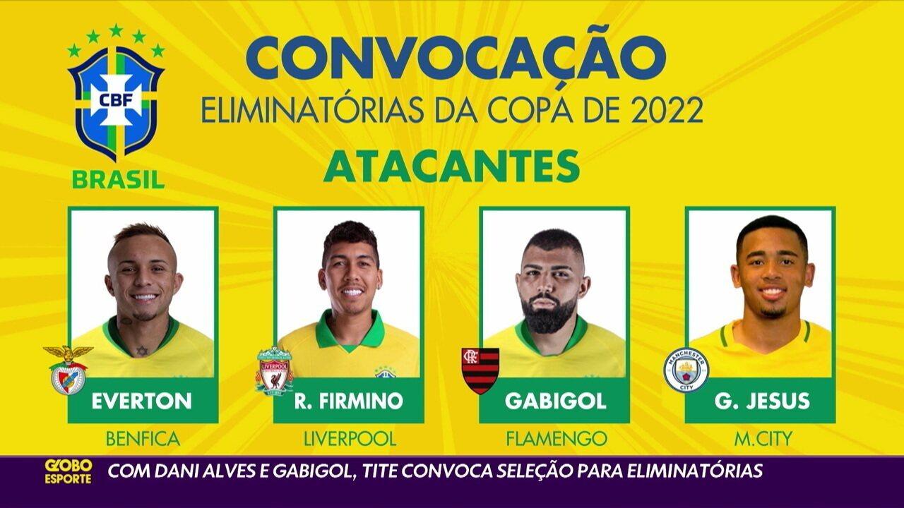 Com Daniel Alves e Gabigol, Tite convoca seleção para as eliminatórias