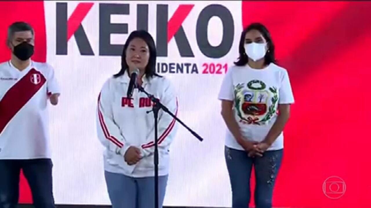 Com 90% das urnas apuradas, ainda não é possível saber quem será presidente do Peru
