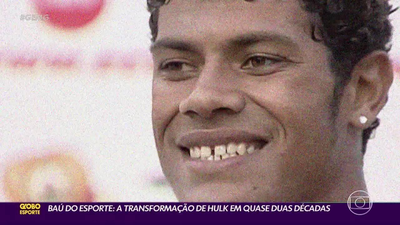 Baú do Esporte: A transformação de Hulk em quase duas décadas
