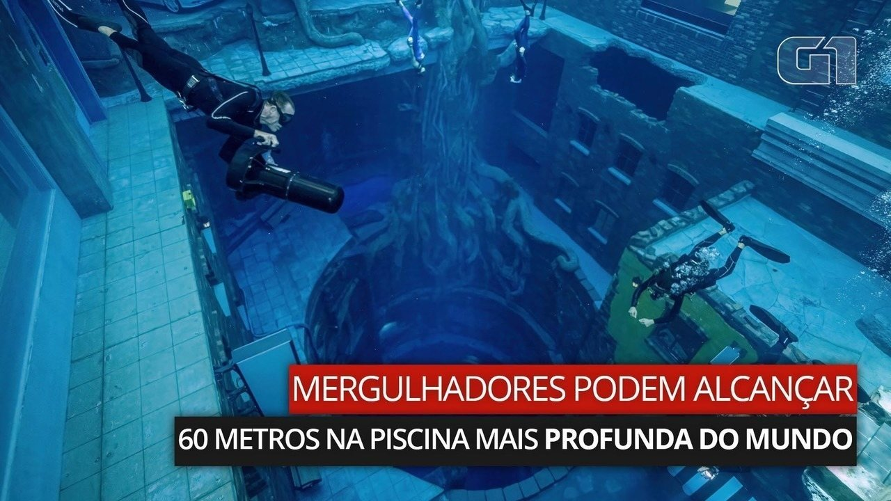 VÍDEO: mergulhadores podem alcançar 60 metros na piscina mais profunda do mundo