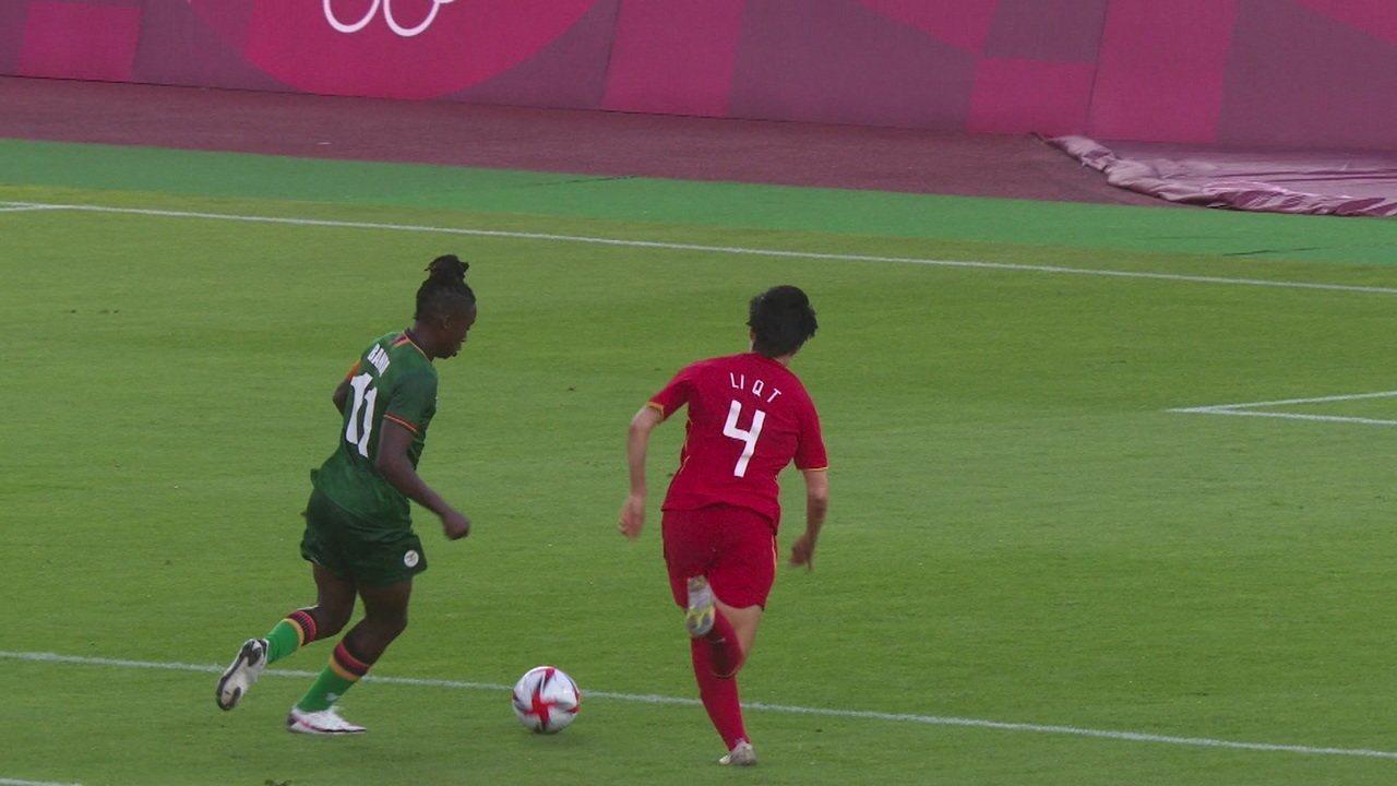 Os gols de Zâmbia 4 x 4 China pelo Futebol Feminino nas Olimíadas de Tóquio 2020